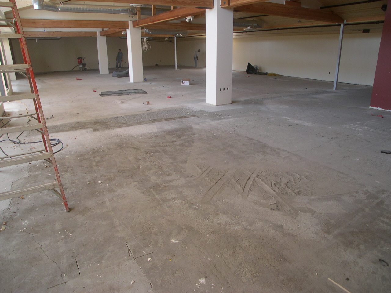 The steps to installing a decorative concrete floor for Cleaning concrete steps