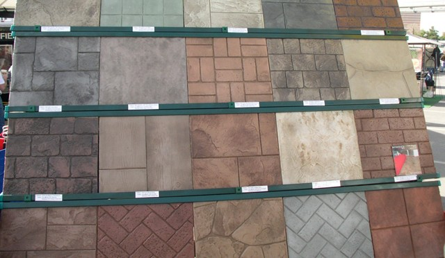 Stamped Rubber Flooring : What are rubber concrete stamps concreteideas