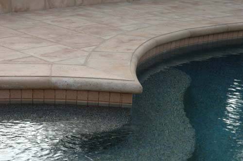 Cantilevered concrete pool coping concreteideas for In ground pool coping ideas