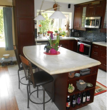 Countertop Mix : Using White Concrete Countertop Mix for More Vibrant Kitchen Colors ...
