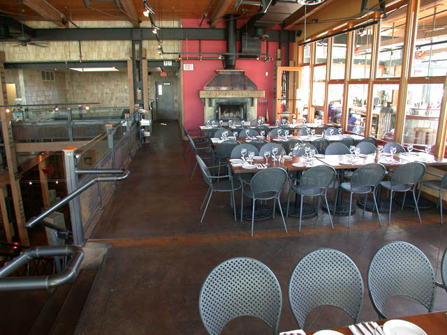 Stained Concrete in Restaurant