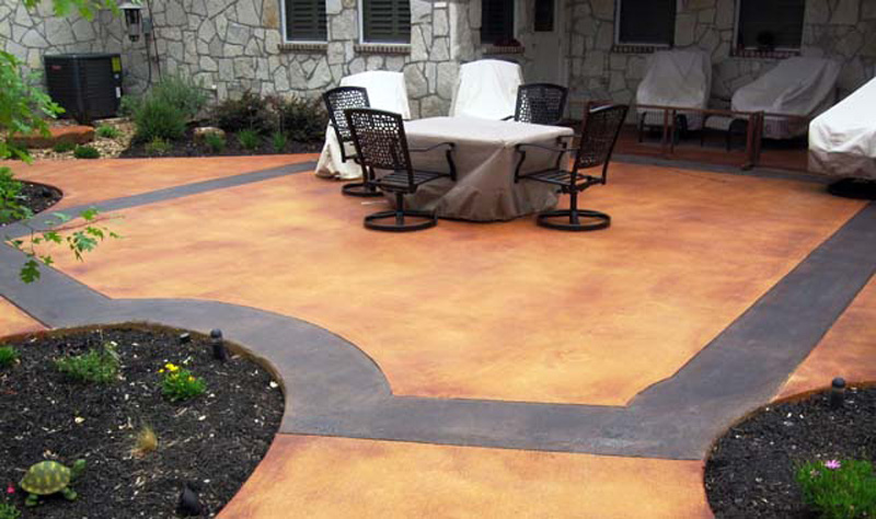 Stamped Concrete Patio Acid Stain