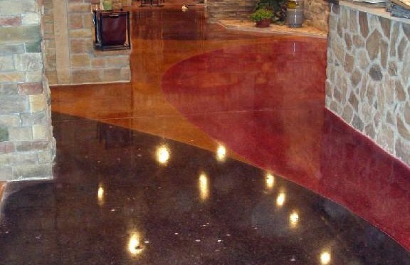 Flooring Evolutions Stained Concrete