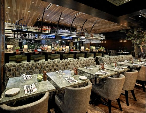 Concrete restaurant tabletops