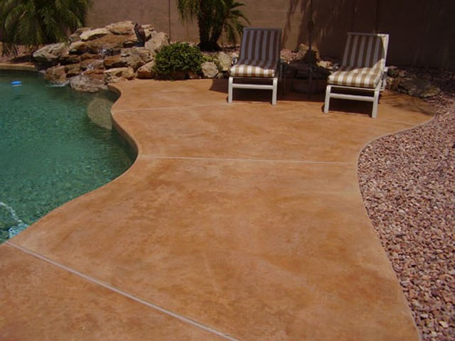 Concrete patios concreteideas for Stained concrete patio pictures