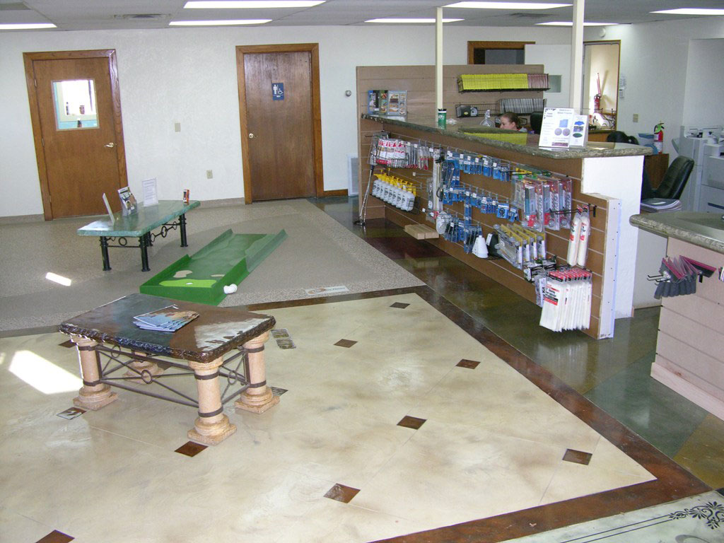 Stamped Concrete Showroom : The stamp store is your online source for concrete floor