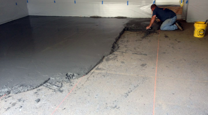 sloping a concrete floor