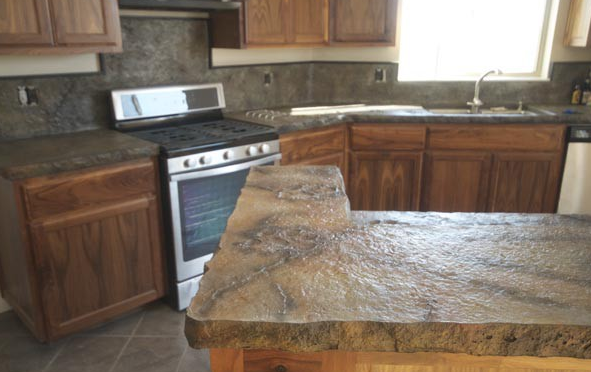 Using A Release Agent For A Stamped Concrete Finish On A Countertop    ConcreteIDEAS