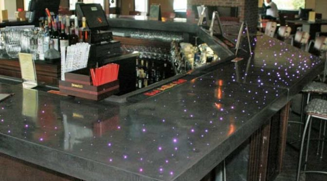 Restaurant Bar Concrete Countertop