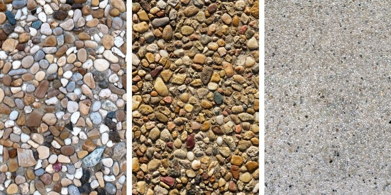 types of exposed aggregate concrete